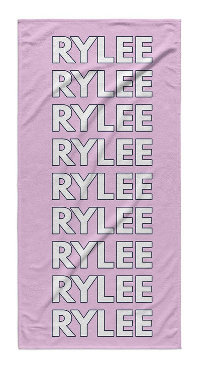 LISTED NAME PERSONALIZED TOWEL