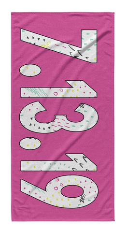 SOLID BOLD PATTERN NAME PERSONALIZED TOWEL-INK