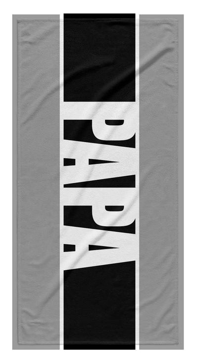 FATHER'S DAY PERSONALIZED BOLD STRIPE BEACH TOWEL