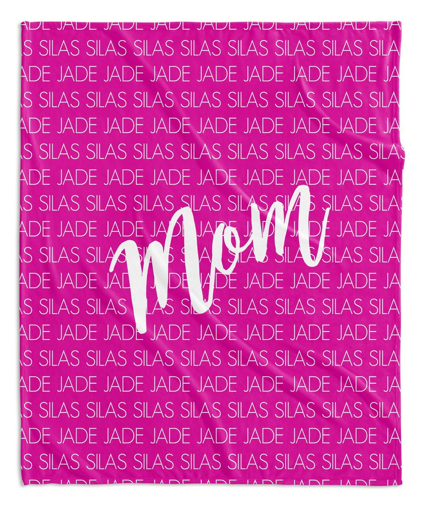 MOM + KIDS PERSONALIZED THROW BLANKET
