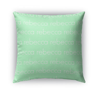PERSONALIZED NAME THROW PILLOW - LIGHT (COVER ONLY)