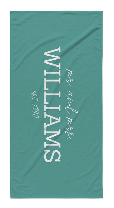 MR. & MRS. BEACH TOWEL GIFT SET