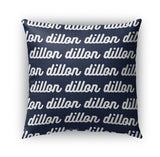 PERSONALIZED NAME THROW PILLOW - RETRO CURSIVE (COVER ONLY)