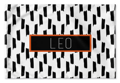 BLACK AND WHITE TAPE PERSONALIZED PILLOW SHAM (MULTIPLE COLOR OPTIONS)
