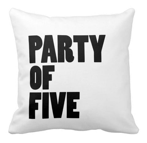 PARTY OF # THROW PILLOW - highway 3