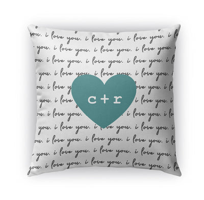 LOVE LETTERS PERSONALIZED THROW PILLOW (COVER ONLY)