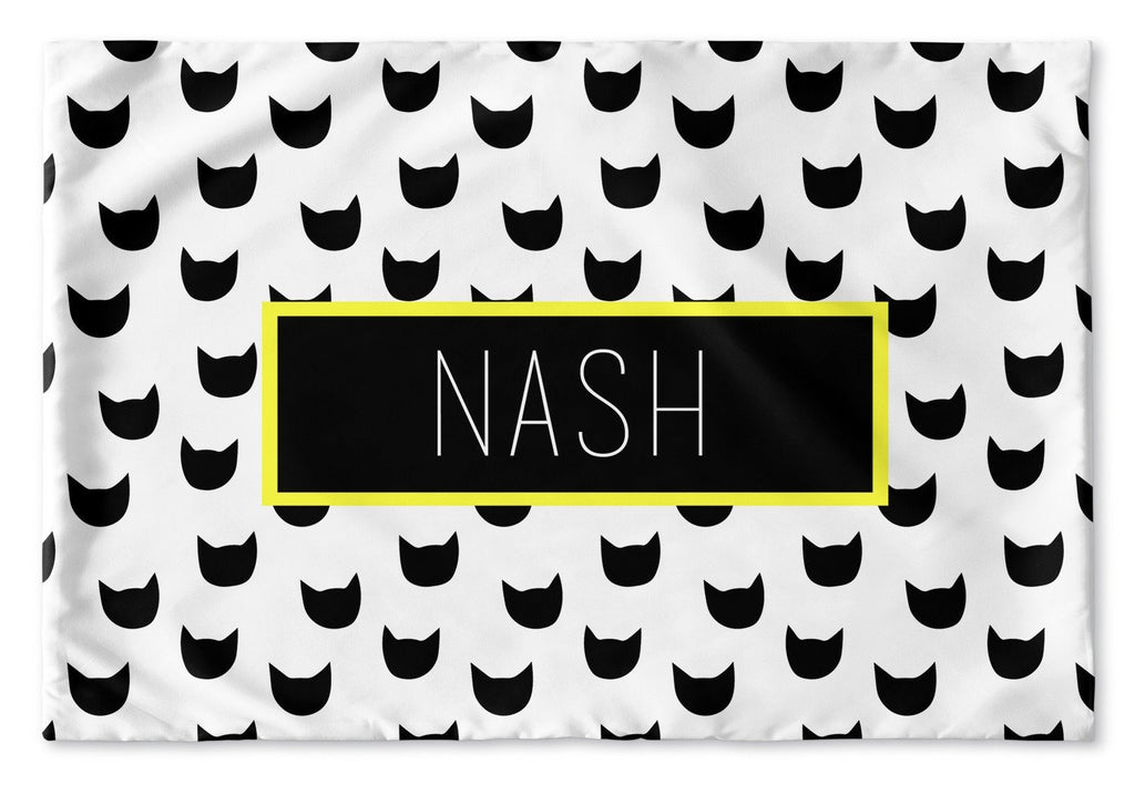 BLACK AND WHITE SUPERHERO PERSONALIZED PILLOW SHAM (MULTIPLE COLOR OPTIONS)