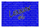 TEAM - NAME & NUMBER PERSONALIZED NAME PILLOW SHAM