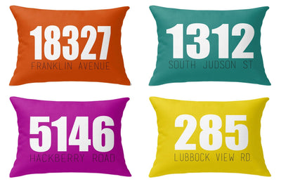 OUTDOOR ADDRESS LUMBAR PILLOW (FALL COLLECTION)