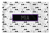 BLACK AND WHITE MOUNTAINS PERSONALIZED PILLOW SHAM (MULTIPLE COLOR OPTIONS)