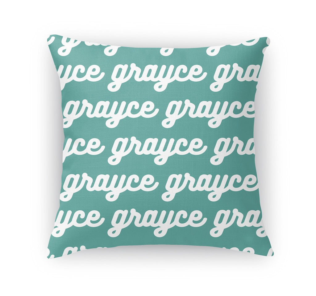PERSONALIZED NAME THROW PILLOW - RETRO CURSIVE
