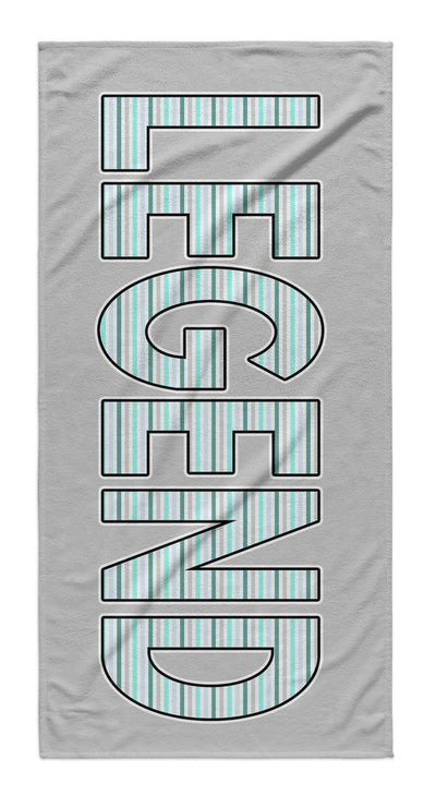 STRIPED LETTERS PERSONALIZED TOWEL