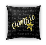 TEAM - CURSIVE PERSONALIZED NAME THROW PILLOW
