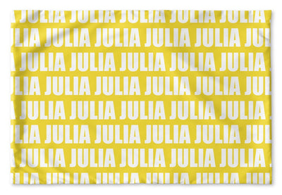 PERSONALIZED NAME PILLOW SHAM - BOLD (MULTIPLE COLOR OPTIONS)