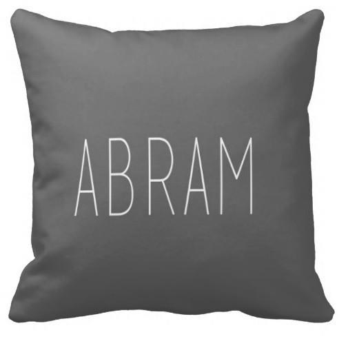 PERSONALIZED NAME THROW PILLOW - SINGLE SIMPLE - highway 3