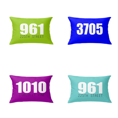 OUTDOOR ADDRESS LUMBAR PILLOW (SPRING COLLECTION)