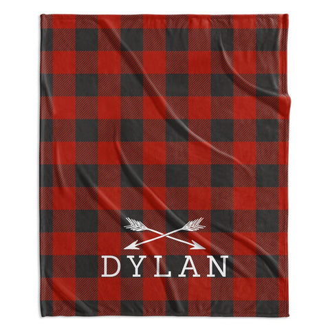 ADVENTURE ARROWS MODERN PERSONALIZED NAME BLANKET