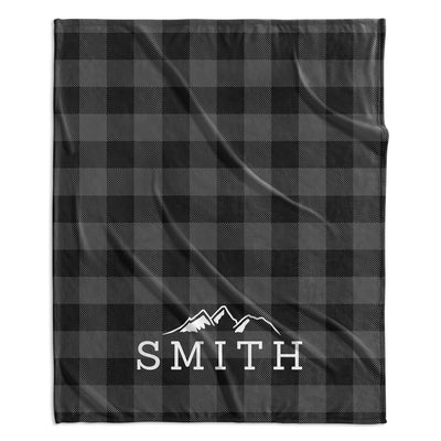 ADVENTURE MOUNTAINS MODERN PERSONALIZED NAME BLANKET