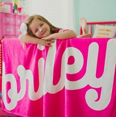 PERSONALIZED NAME BLANKET - RETRO CURSIVE 2 (ALL COLOR OPTIONS)