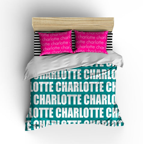 PERSONALIZED NAME DUVET COVER - BOLD (MULTIPLE COLOR OPTIONS)