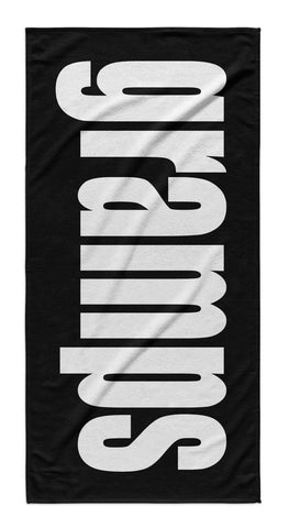 FATHER'S DAY PERSONALIZED SOLID BOLD BEACH TOWEL