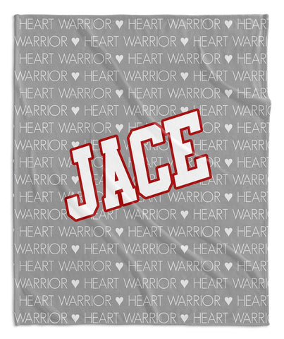 HEART WARRIOR PERSONALIZED BLANKET