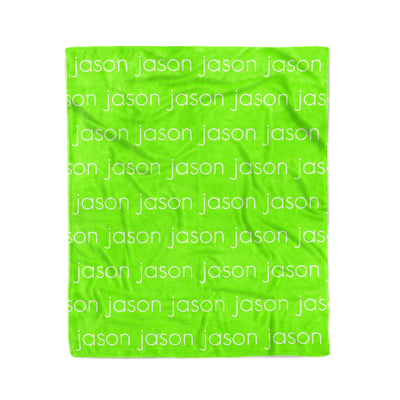 PERSONALIZED PET NAME BLANKET - LIGHT (ALL COLOR OPTIONS)