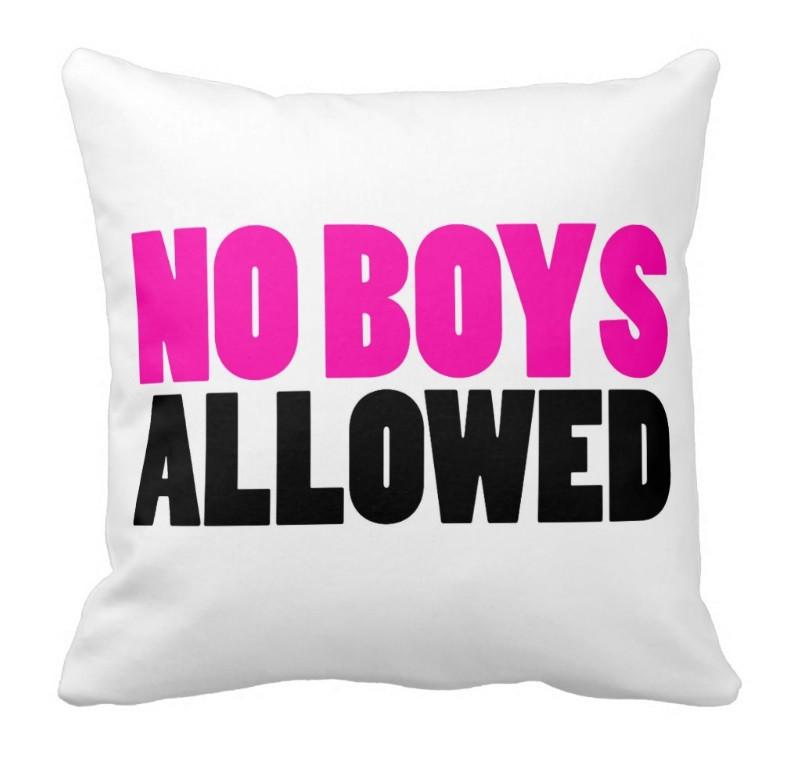 NO BOYS ALLOWED THROW PILLOW - highway 3