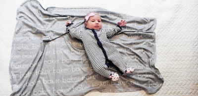 PERSONALIZED LIGHTWEIGHT SWADDLE BLANKET - LIGHT