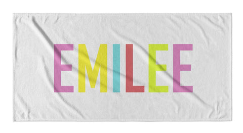 RAINBOW LETTER PERSONALIZED TOWEL