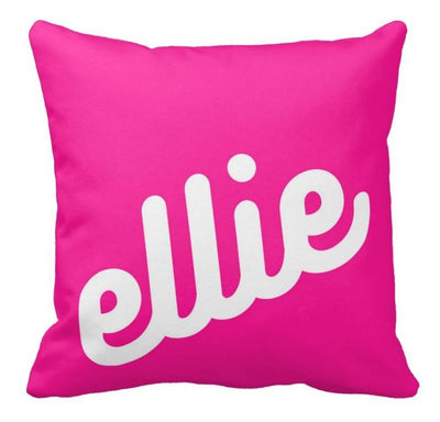 PERSONALIZED NAME THROW PILLOW - RETRO CURSIVE 2 (COVER ONLY)