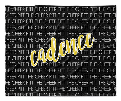 TEAM - CURSIVE PERSONALIZED NAME THROW BLANKET