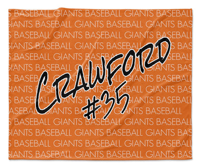 TEAM - NAME & NUMBER PERSONALIZED THROW BLANKET