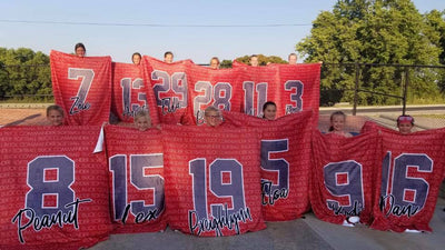 PERSONALIZED LARGE NUMBER TEAM BLANKET