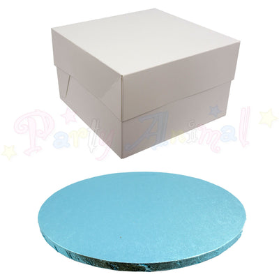 ROUND Drum Cake Board and Box Set - LIGHT BLUE Drum - Choose Size