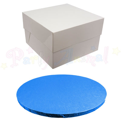 ROUND Drum Cake Board and Box Set - DARK BLUE Drum - Choose Size
