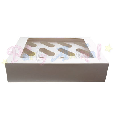 Cupcake Muffin Boxes - Plain White - holds 12  with inserts