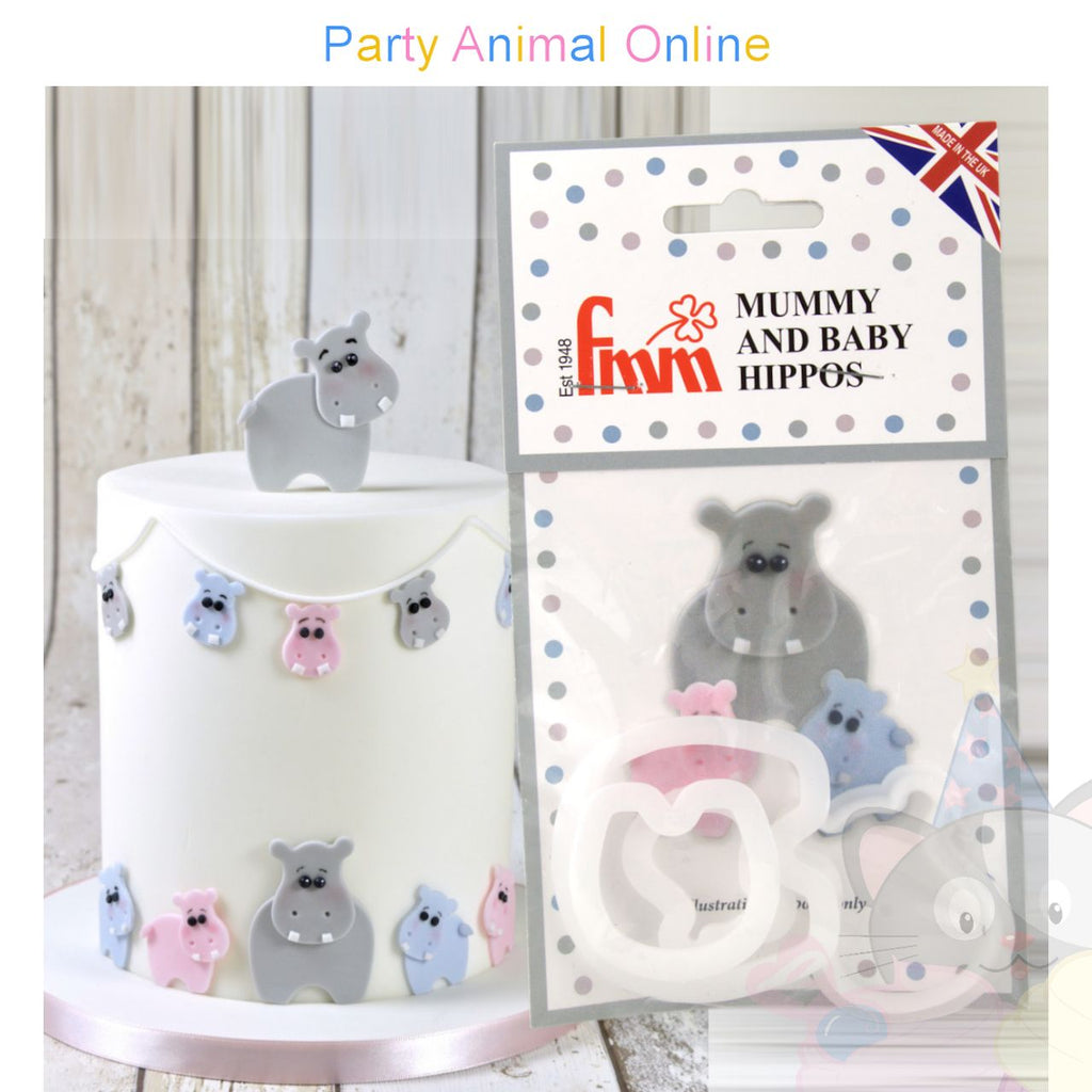 FMM Mummy and Baby Hippopotamus Cutter Set