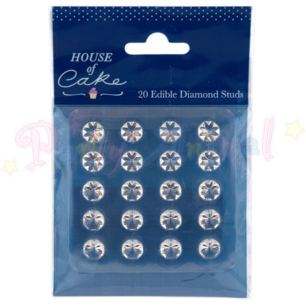 House of Cake Edible Diamond Studs CLEAR