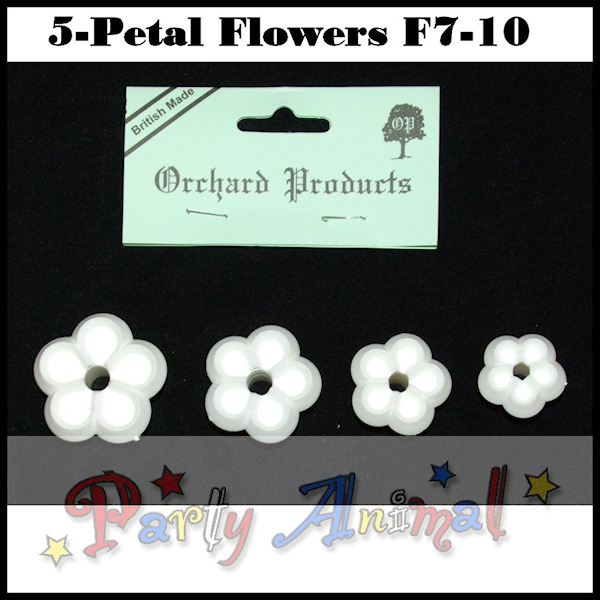 Orchard Products 5 Petal Flower Cutter set F7, F8, F9, F10 -Set of 4