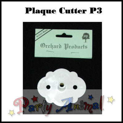 Orchard Products Plaque Cutter  P3 FANCY OVAL - 74mm