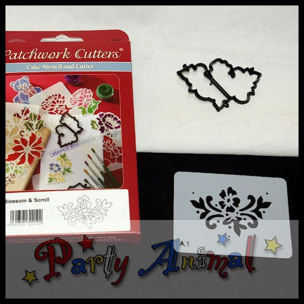 Patchwork Cutters STENCIL & CUTTER Blossom & Scroll