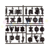 Patchwork Cutters Alphabet LARGE Lower Case Cutter