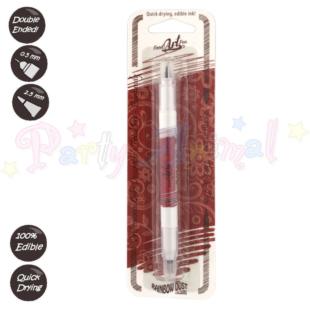 Rainbow Dust Edible Ink Food Art Pen - BURGUNDY