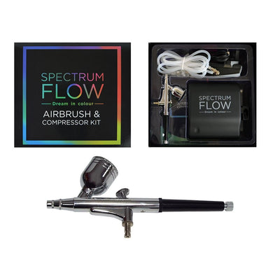 Spectrum Flow Airbrush and Compressor Kit