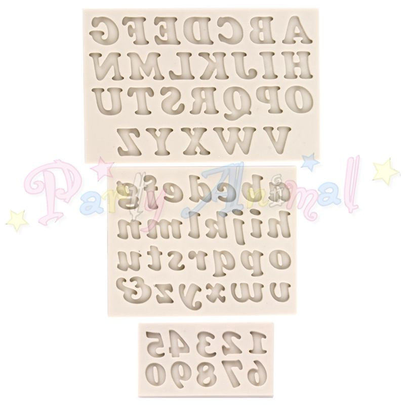 Alphabet Moulds ALPHABET & NUMBERS Sugarcraft Mould - Cookie Font