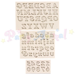 Alphabet Moulds ALPHABET & NUMBERS Sugarcraft Mould