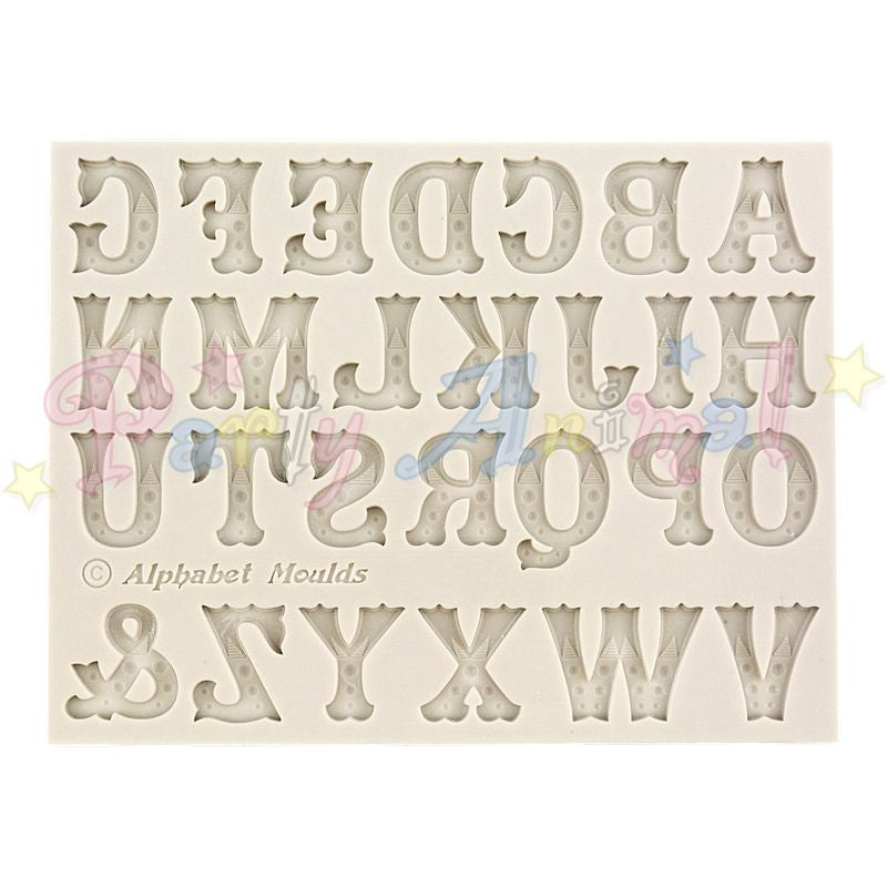 Alphabet Moulds ZEBRAWOOD UPPER CASE Sugarcraft Mould