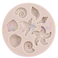 Alphabet Moulds SHELLS & STARFISH Sugarcraft Mould