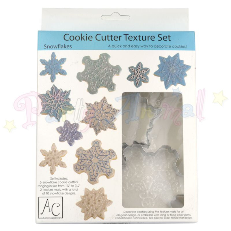 Autumn Carpenter Cookie Cutter Set SNOWFLAKES